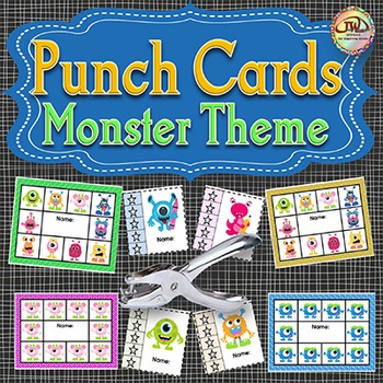 Monster Theme - Punch Cards