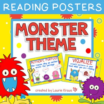 Monster Theme Reading Posters
