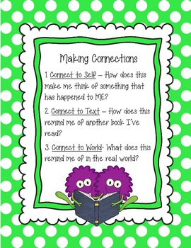 Monster Theme Reading Strategies