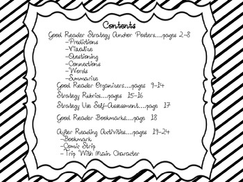 Monster Theme Reading Strategies Bundle