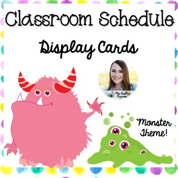 Polka-Dot Monster Theme Schedule Cards
