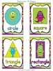 Monster Theme Shape Posters