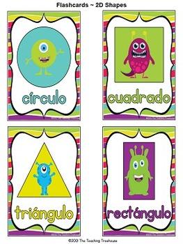 Monster Theme Shape Posters ~ SPANISH VERSION
