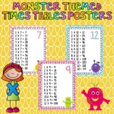 Monster Theme Times Table Posters