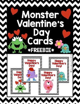 Monster-Theme Valentine's Day Cards