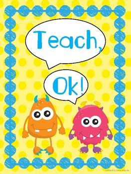 Monster Theme Whole Brain Teaching  posters