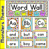 Sight Words Word Wall - Monster Theme