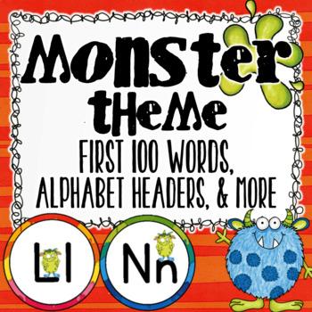 Word Wall Monster Theme