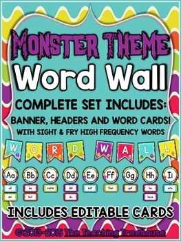 Monster Theme Word Wall
