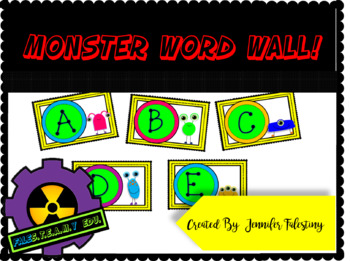 Monster Theme Word Wall Labels