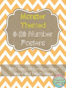 Monster Themed 0-20 Numbers Posters