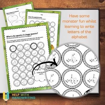 Monster Themed ABC worksheets