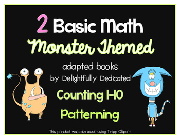 Monster Themed BASIC MATH Adapted Books