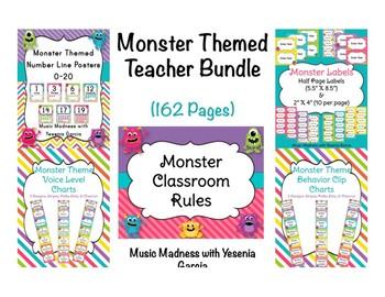 Monster Themed Back to School Teacher Bundle 2017-2018