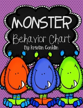 Monster Themed Behavior Chart