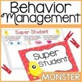 Behavior Chart- Monster Theme