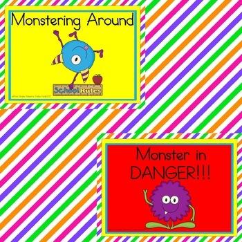 Monster Themed Behavior Clip Chart