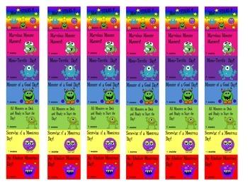 Monster Themed Behavior Clipchart System