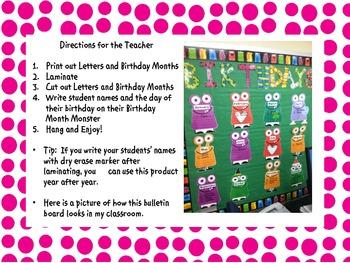 Monster Themed Birthday Board