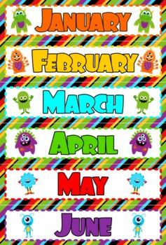 Monster Themed Birthday Display