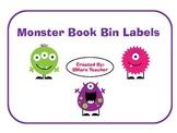 Monster Themed Book Bin Labels