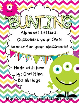 Monster Themed Buntings- Customize Your Own Banner!