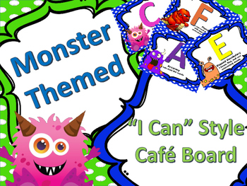 Monster Themed CAFE Board (I Can Version)