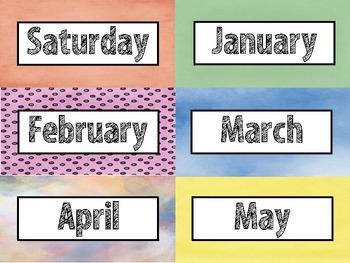 Monster Themed Calendar