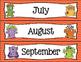 Monster Themed Calendar Set