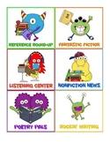 Monster Themed Center Station Cards