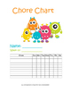 Monster-Themed Chore Charts (Monthly, Weekly, and Daily)