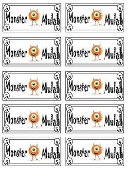 Monster Themed Class Cash / Monster Mulah