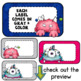 Monster Themed- Class Passes and Nameplates- Editable