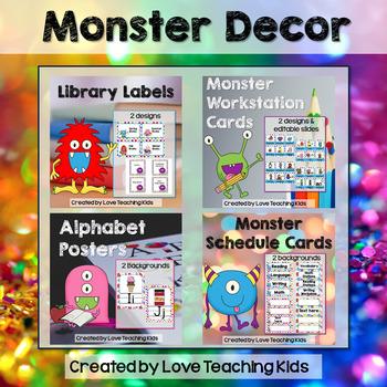 Monster Classroom Theme Bundle