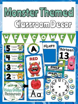 Monster Themed Classroom Decor Bundle