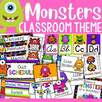 Monster Theme: Classroom Decor (BUNDLE)