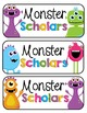 Monster Themed Classroom Goodies