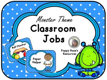 Monster Themed Classroom Jobs System