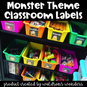 Monster Themed Classroom Labels