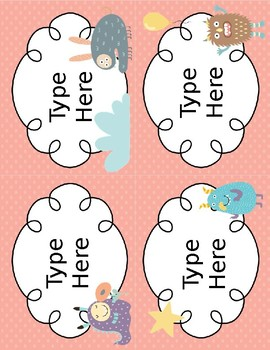 Monster Themed Classroom Labels - EDITABLE!