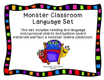Monster Themed Classroom Language Pack