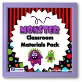 Monster Themed Classroom Materials Pack (Editable Materials, Too!)