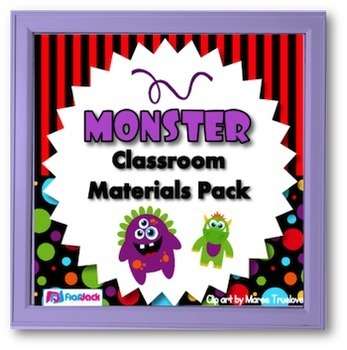 Monster Themed Classroom Decor Bundle (Editable Materials, Too!)