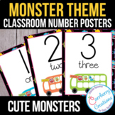Monster Themed Classroom Numbers Posters