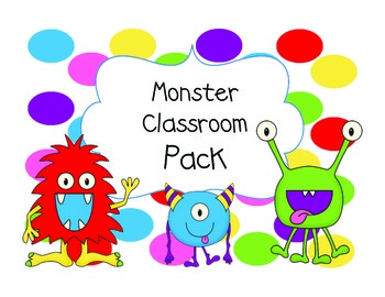 Monster Themed Classroom Pack