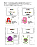 Monster Themed Classroom Passes