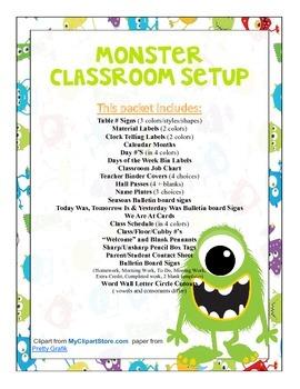Monster Themed Classroom Bundle