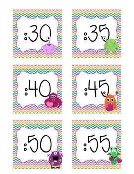 Monster Themed Clock Numbers