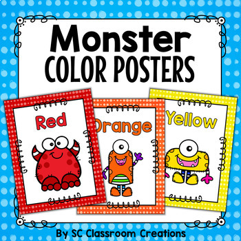 Monster Themed Color Posters-Classroom Decor