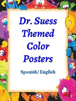 Monster Themed Color Posters (Spanish/English)